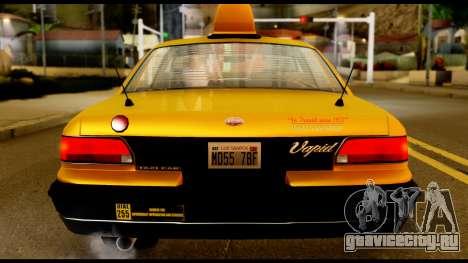 GTA 4 Vapid Stanier Downtown Cab для GTA San Andreas вид сзади