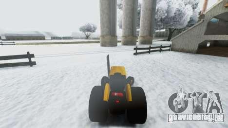 Tractor Kor4 для GTA San Andreas вид сзади