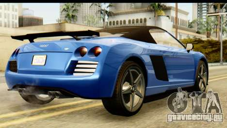GTA 5 Obey 9F Cabrio для GTA San Andreas вид слева