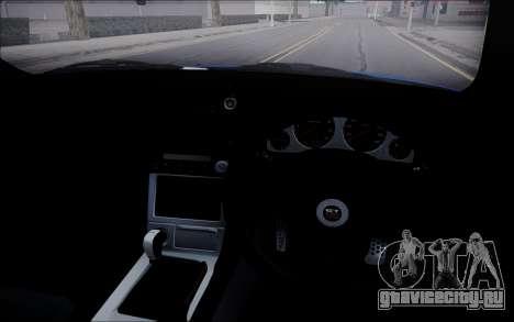 Nissan Skyline GT-R V Spec II 2002 для GTA San Andreas вид изнутри