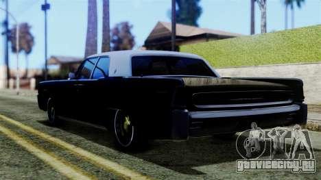 Lincoln Continental для GTA San Andreas вид слева