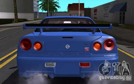 Nissan Skyline GT-R V Spec II 2002 для GTA San Andreas салон