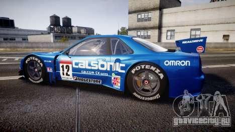 Nissan Skyline R34 2003 JGTC Calsonic для GTA 4