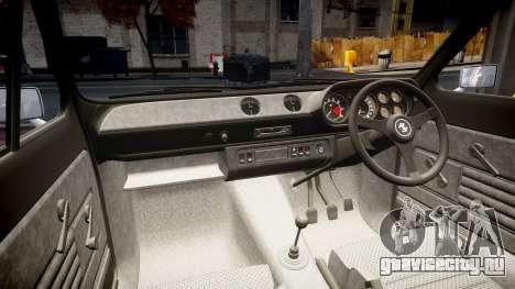 Ford Escort RS1600 PJ17 для GTA 4 вид изнутри