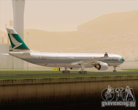 Airbus A330-300 Cathay Pacific для GTA San Andreas вид справа
