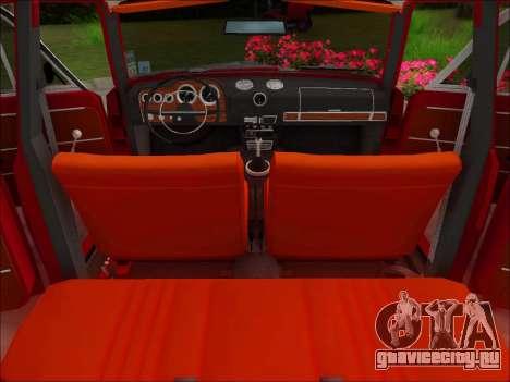 ВАЗ-21032 v2.0 для GTA San Andreas вид изнутри