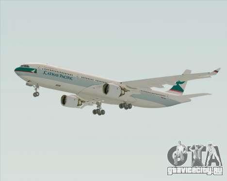 Airbus A330-300 Cathay Pacific для GTA San Andreas вид сзади слева