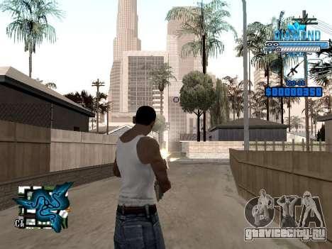 C-HUD Blek-Pro Diamond для GTA San Andreas второй скриншот