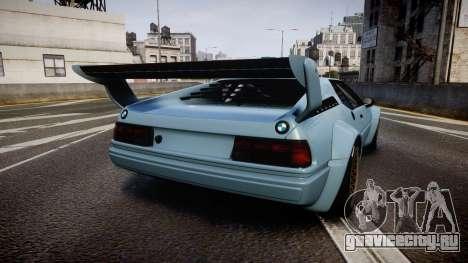BMW M1 [EPM] для GTA 4 вид сзади слева