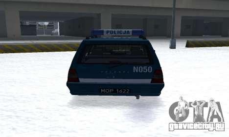 Daewoo-FSO Polonez Kombi 1.6 GSI Police 2000 для GTA San Andreas вид справа