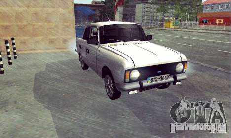 Москвич 412 White Swallow для GTA San Andreas вид справа
