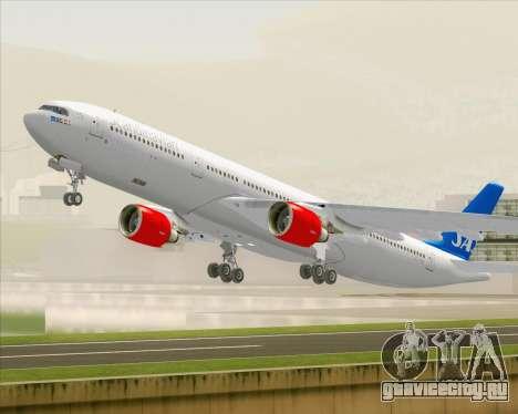 Airbus A330-300 Scandinavian Airlines для GTA San Andreas вид снизу