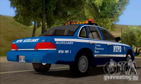 Ford Crown Victoria NYPD  Mazarine для GTA San Andreas вид сзади слева