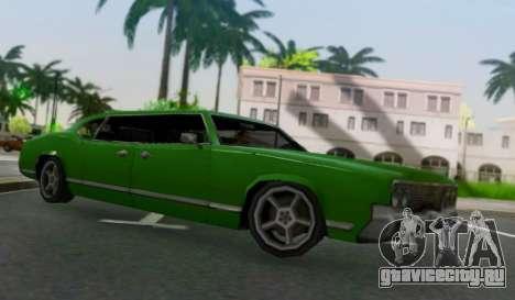 Sabre Limousine для GTA San Andreas вид сзади слева
