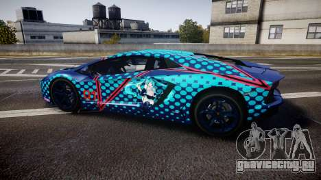 Lamborghini Aventador 2012 [EPM] Miku 3 для GTA 4 вид слева