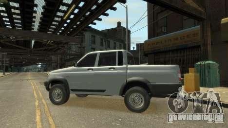 UAZ Patriot Pickup v.2.0 для GTA 4 вид справа