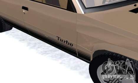 Renault 11 Turbo Phase I 1984 для GTA San Andreas вид изнутри