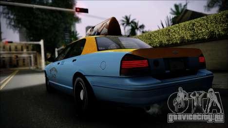 Taxi Vapid Stanier II from GTA 4 IVF для GTA San Andreas вид слева