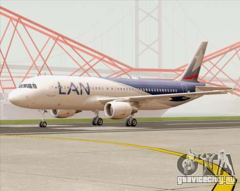 Airbus A320-200 LAN Argentina для GTA San Andreas вид слева