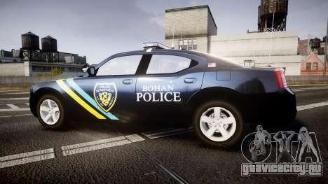 Dodge Charger 2006 Sheriff Bohan [ELS] для GTA 4 вид слева