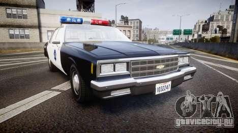 Chevrolet Impala 1985 LCPD [ELS] для GTA 4