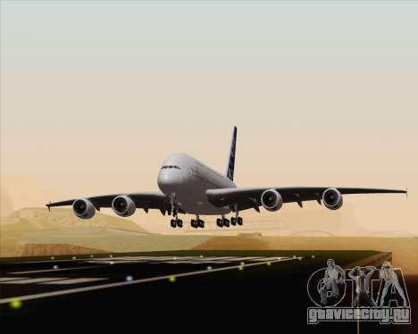 Airbus A380-800 F-WWDD Etihad Titles для GTA San Andreas вид сзади