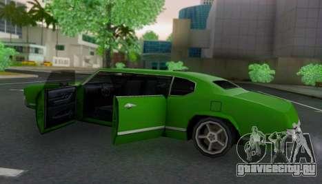 Sabre Limousine для GTA San Andreas вид изнутри