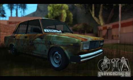 ВАЗ 2107 Rusty для GTA San Andreas вид справа