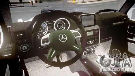 Mercedes-Benz G65 Brabus rims1 для GTA 4 вид изнутри