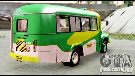 Ford Bus 1956 для GTA San Andreas вид сзади слева