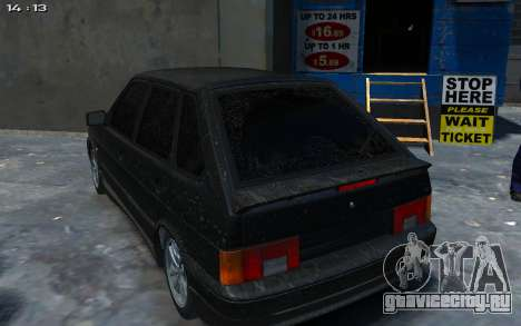 ВАЗ 2114 для GTA 4 вид справа