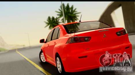 Mitsubishi Lancer X Stock для GTA San Andreas вид слева