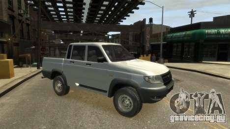 UAZ Patriot Pickup v.2.0 для GTA 4 вид сзади слева