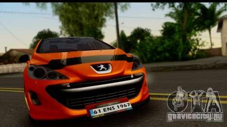 Peugeot 308 ENS Tuning для GTA San Andreas вид сзади слева