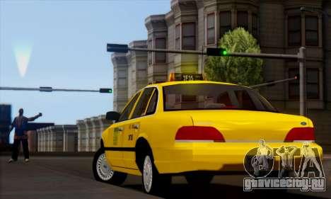 Ford Crown Victoria NY Taxi для GTA San Andreas вид слева