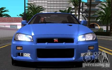 Nissan Skyline GT-R V Spec II 2002 для GTA San Andreas вид снизу