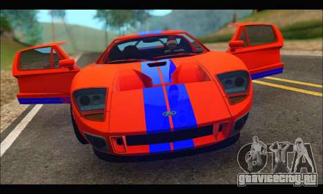 Ford GT 2006 для GTA San Andreas вид сзади