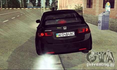 Honda Accord Type S 2008 LT для GTA San Andreas вид сбоку