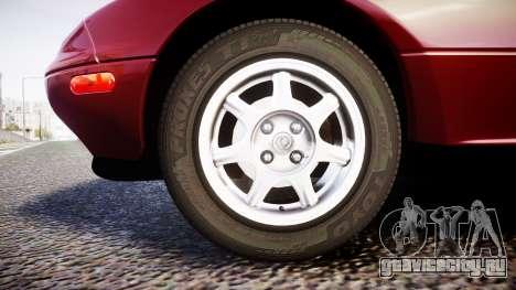 Mazda MX-5 Miata NA 1994 [EPM] для GTA 4 вид сзади