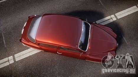 Saab 96 для GTA 4 вид справа