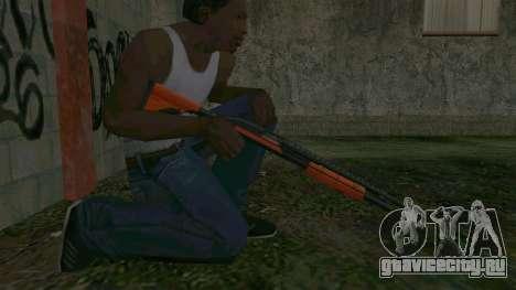 Orange Shotgun для GTA San Andreas четвёртый скриншот