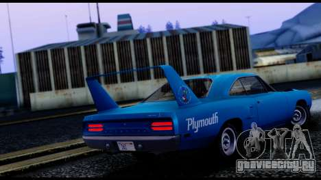 Plymouth Roadrunner Superbird RM23 1970 IVF для GTA San Andreas