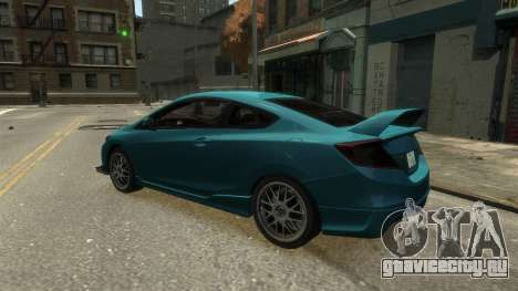 Honda Civic Si 2013 v1.0 для GTA 4 вид справа