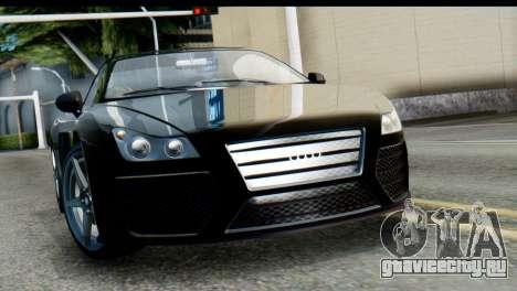 GTA 5 Obey 9F Cabrio SA Mobile для GTA San Andreas вид сзади слева