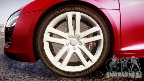 Audi R8 E-Tron 2014 для GTA 4 вид сзади