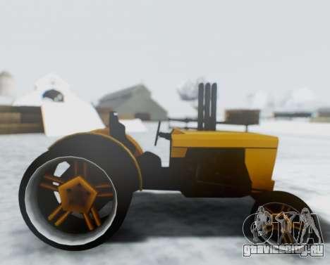 Tractor Kor4 для GTA San Andreas вид сзади слева
