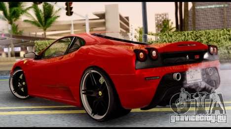 Ferrari F430 Scuderia для GTA San Andreas вид справа