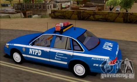 Ford Crown Victoria NYPD  Mazarine для GTA San Andreas