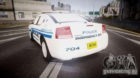 Dodge Charger 2006 LCPD [ELS] для GTA 4 вид сзади слева