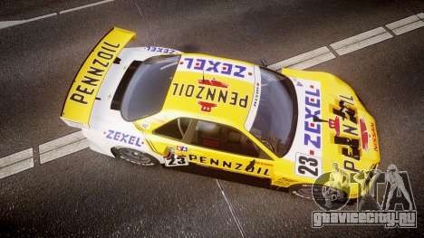 Nissan Skyline R34 2003 JGTC Pennzoil для GTA 4 вид справа
